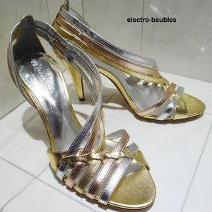 NWOB COACH Brendy Metallic Sandal 6.5M